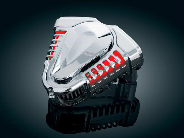 【kuryakyn】 Twin Velocity用 Inner Plate (鮮紅色) 空氣濾清器 - 「Webike-摩托百貨」