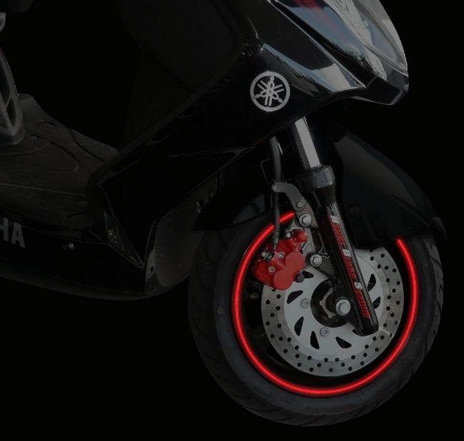 【N PROJECT】輪框貼紙 單線 (反光型) 16-19吋 - 「Webike-摩托百貨」