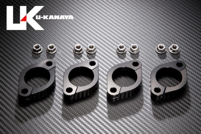 【U-KANAYA】鋁合金切削加工 排氣管頭段固定環 [ZRX400/II専用] - 「Webike-摩托百貨」