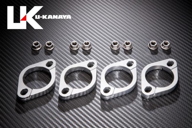 【U-KANAYA】鋁合金切削加工 排氣管頭段固定環 [ZRX1100 : ZRX1200 : ZRX1200DAEG 専用] - 「Webike-摩托百貨」