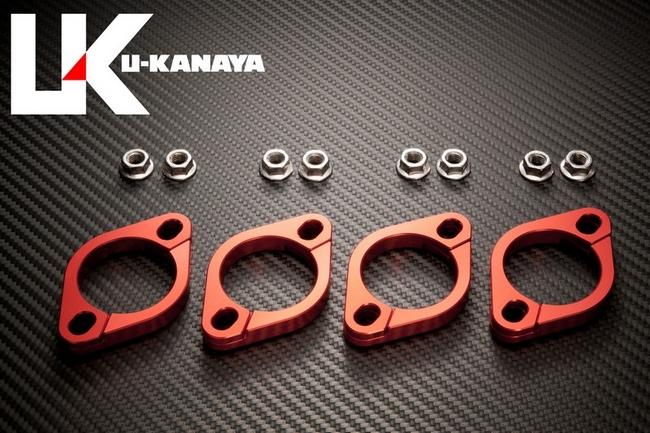 【U-KANAYA】鋁合金切削加工 排氣管頭段固定環 [GPZ1100(95-)専用] - 「Webike-摩托百貨」