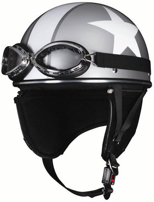 【unicar】By-Garoo 復古樣式半罩安全帽 (白星) - 「Webike-摩托百貨」