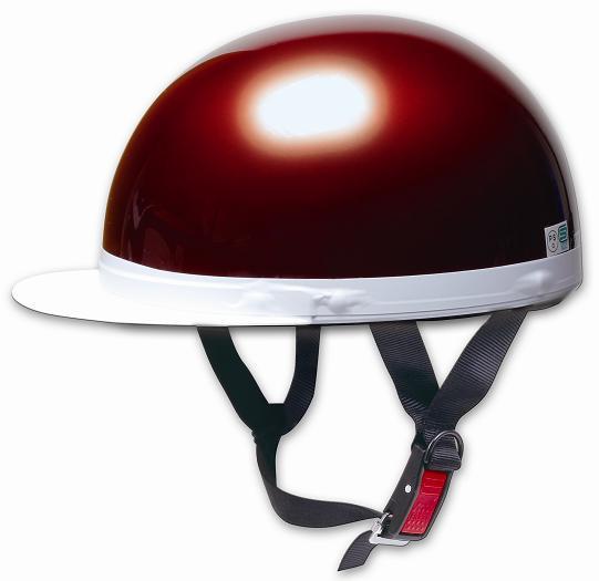 【PALSTAR】Comfort Helmet 白邊緣 Half cap 半罩安全帽 Candy Red - 「Webike-摩托百貨」