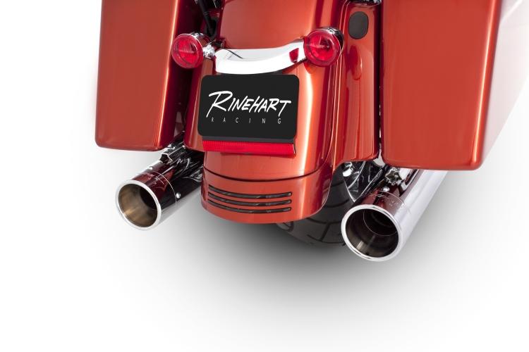 【Rinehart】4吋 Slip-on 排氣管尾段(黑色/鍍鉻端蓋) - 「Webike-摩托百貨」