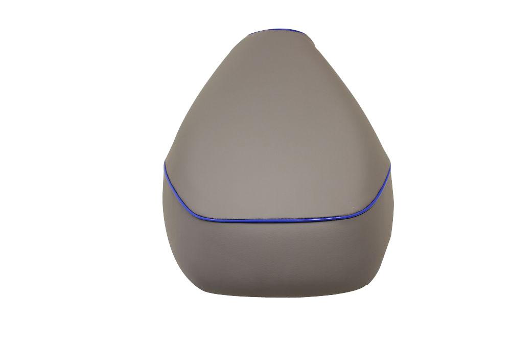 【GRONDEMENT】日本製坐墊皮 替換型 【灰色・藍色滾邊】 - 「Webike-摩托百貨」