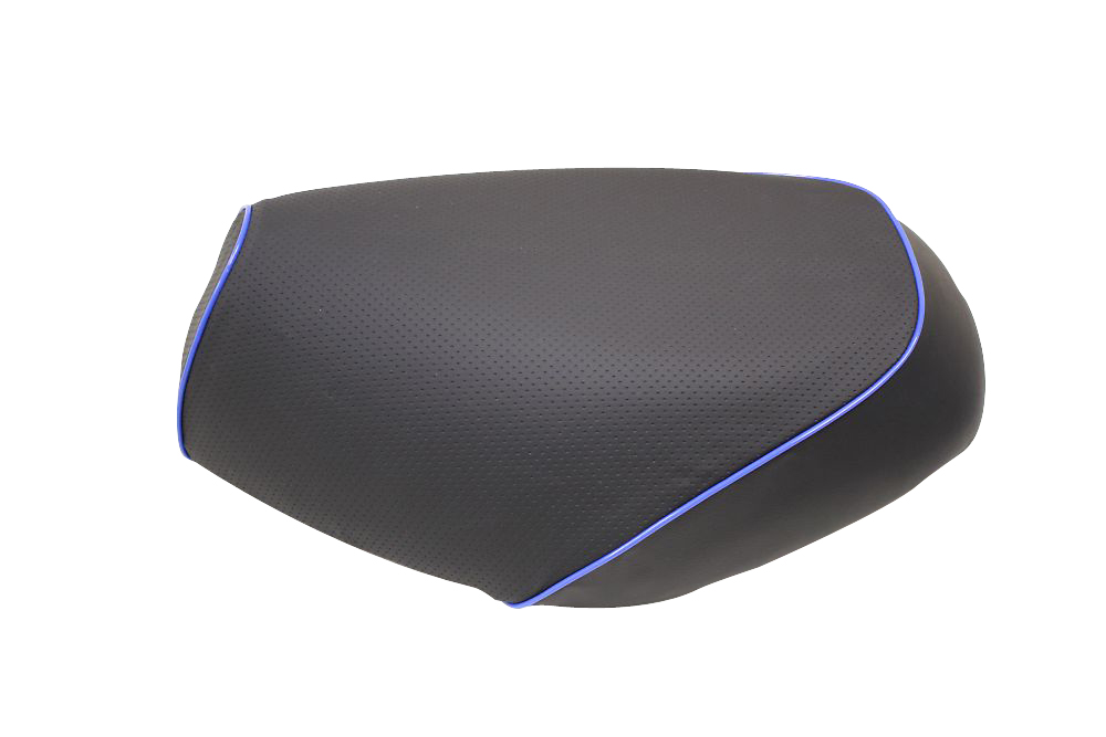 【GRONDEMENT】日本製坐墊皮 覆蓋型 【壓花・藍色滾邊】 - 「Webike-摩托百貨」