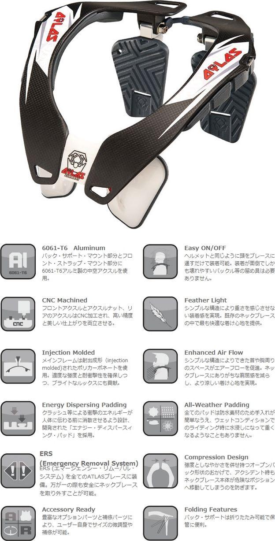 【ATLAS】護頸碳纖維 - 「Webike-摩托百貨」