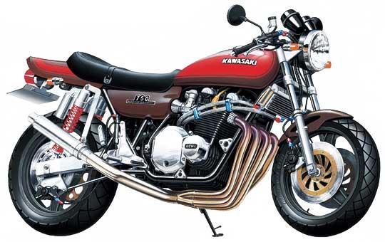 【青島文化教材社】[模型車] KAWASAKI 750RS ZII Super Custom - 「Webike-摩托百貨」