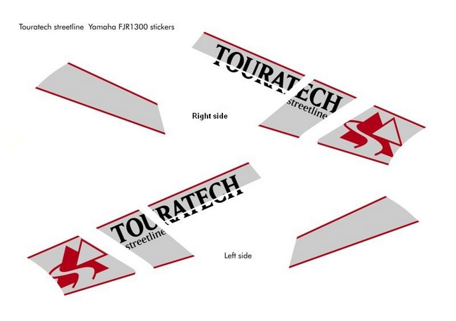 【TOURATECH】貼紙組 - 「Webike-摩托百貨」