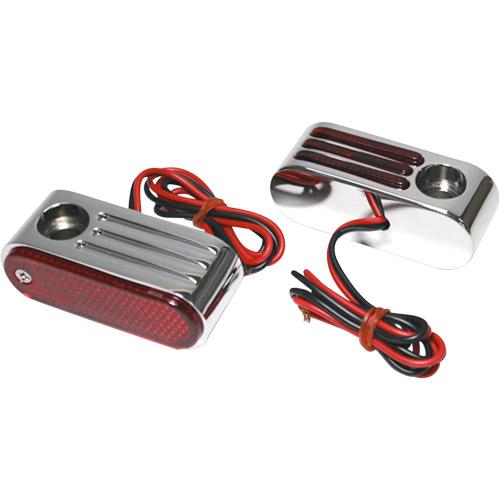 【KUSTOM1】Oval Marker 紅色方向燈燈殼 / 鍍鉻外殼 - 「Webike-摩托百貨」