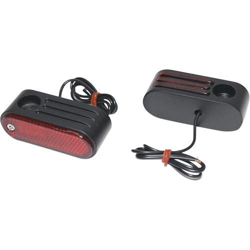 【KUSTOM1】Oval Marker 紅色方向燈燈殼 /  黑色外殼 - 「Webike-摩托百貨」