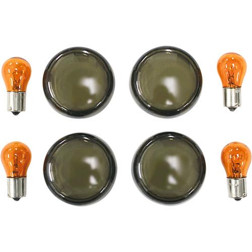 【KUSTOM1】Brett 方向燈燈殼套件 燻黑 - 「Webike-摩托百貨」