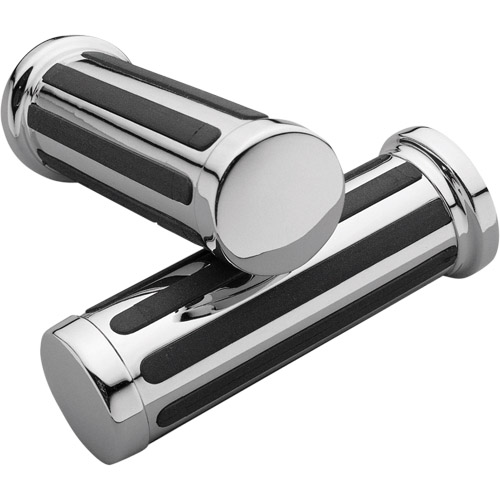 【KUSTOM1】鍍鉻&橡膠握把套 - 「Webike-摩托百貨」