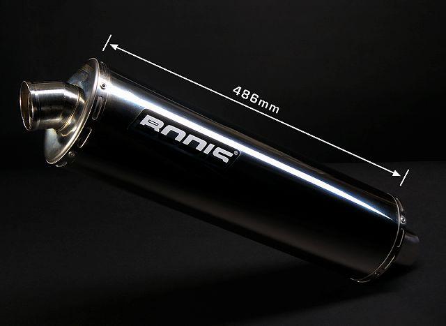 【BODIS】不銹鋼全段排氣管 (Oval 1 WM) - 「Webike-摩托百貨」