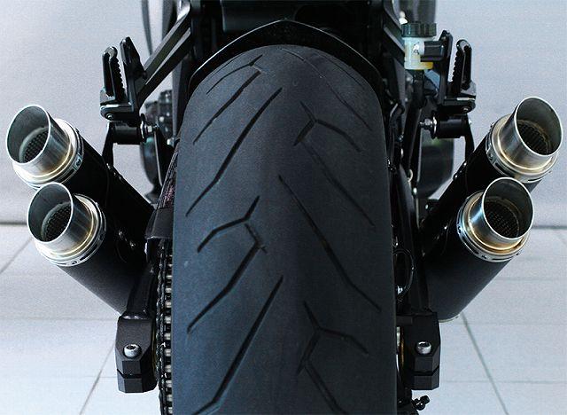 【BODIS】不銹鋼排氣管尾段 4-4 GPX2 (黑色) - 「Webike-摩托百貨」