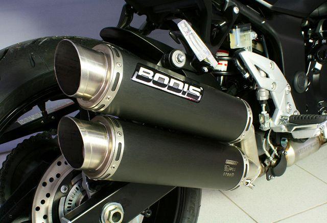 【BODIS】黑色不銹鋼排氣管尾段 (4-2   GPC-X2) - 「Webike-摩托百貨」