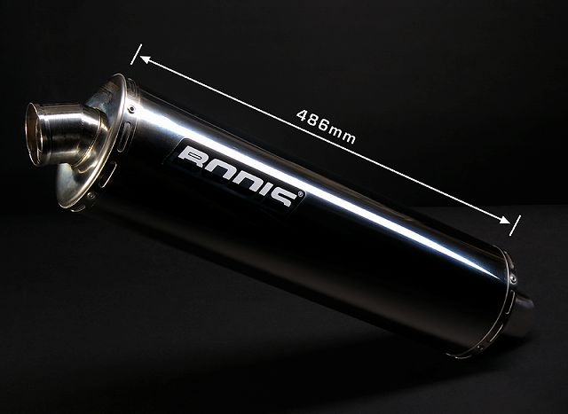 【BODIS】不銹鋼排氣管尾段組 (Oval 1MK G) - 「Webike-摩托百貨」