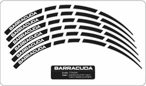 【BARRACUDA】輪框貼紙 - 「Webike-摩托百貨」