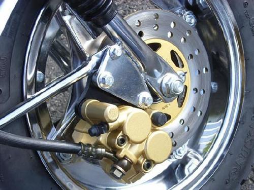 【ai-net】電鍍中心輪轂套件 (改前碟式煞車)前後組 - 「Webike-摩托百貨」