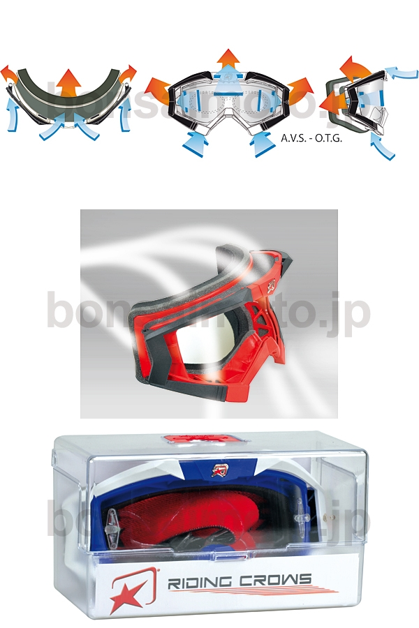 【ariete_en】RIDING CLOWS Roll-off BIG MX越野風鏡 - 「Webike-摩托百貨」