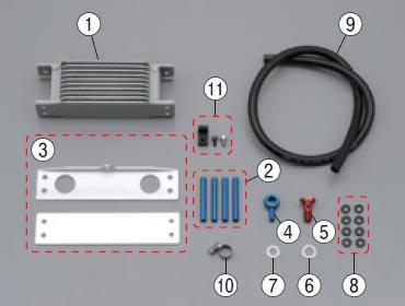 【DAYTONA】【10段機油冷卻器套件】上&下支架組 - 「Webike-摩托百貨」