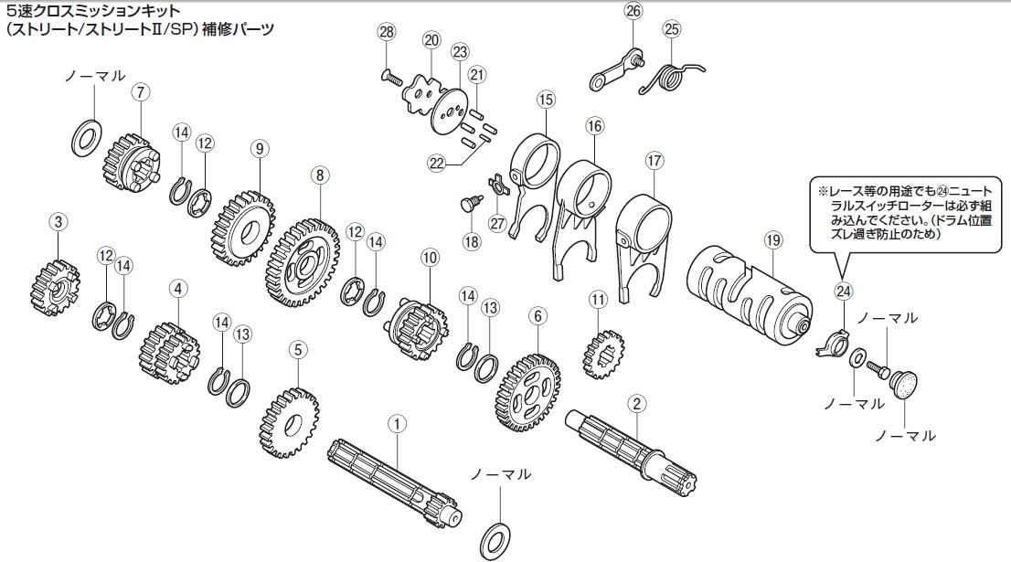 【DAYTONA】【5速Cross 變速箱套件維修用零件】 二檔/主軸齒輪17齒 - 「Webike-摩托百貨」