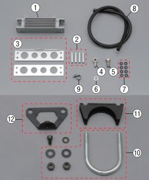 【DAYTONA】【7段機油散熱器套件維修用部品】U 螺絲組 - 「Webike-摩托百貨」