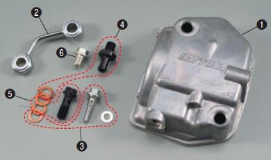 【DAYTONA】【油浴式汽缸頭蓋(一般型汽缸頭)用維修零件】油管接頭螺絲組 (M6 Stage) - 「Webike-摩托百貨」