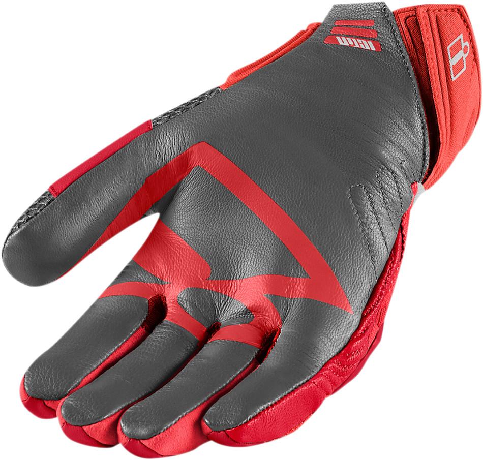 【ICON】手套 GLOVE OVERLORD MESH RED - 「Webike-摩托百貨」