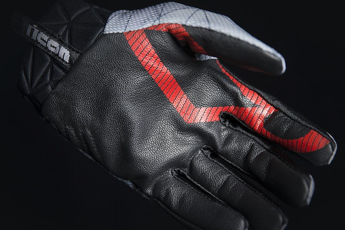 【ICON】手套 GLOVE ANTHEM BLEND RED - 「Webike-摩托百貨」
