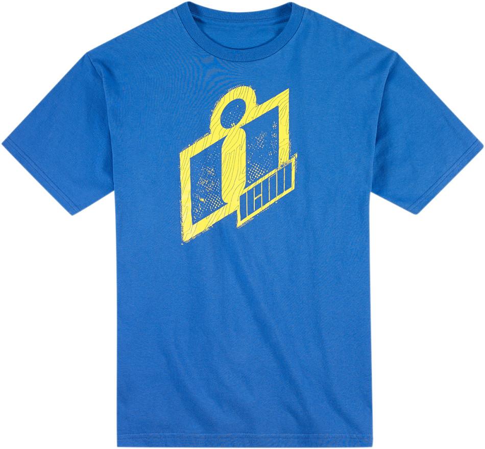【ICON】T恤 TEE DOUBLE UP BLUE - 「Webike-摩托百貨」