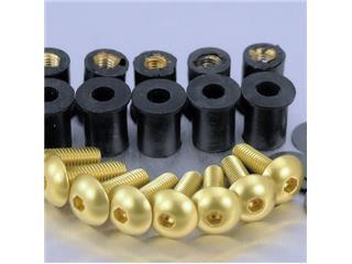 【PRO BOLT】Bubble 螺絲套件 Pro-Bolt 鋁合金 金色 8個一組【歐洲進口商品】 - 「Webike-摩托百貨」