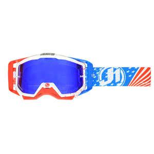 JUST1 ジャストワンJUST1 IRISH USA ゴーグル ブルー/レッド/ホワイト【JUST1 Iris USA Goggle Blue/Red/White】【ヨーロッパ直輸入品】