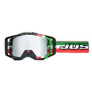 JUST1 ジャストワンJUST1 IRISH イタリアゴーグル グリーン/ホワイト/レッド【JUST1 Iris Italia Goggle Green/White/Red】【ヨーロッパ直輸入品】