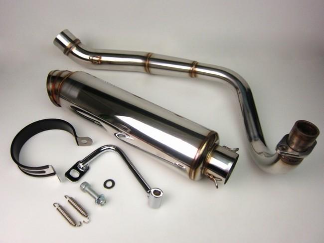 【MINIMOTO】MONKEY 下移型 不鏽鋼全段排氣管 E型 - 「Webike-摩托百貨」