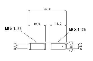 【βTITANIUM】Kawasaki車 通用型排氣管雙頭螺絲 Type 2 - 「Webike-摩托百貨」