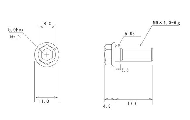 【βTITANIUM】HONDA車用 煞車碟盤螺絲 M6×17L - 「Webike-摩托百貨」