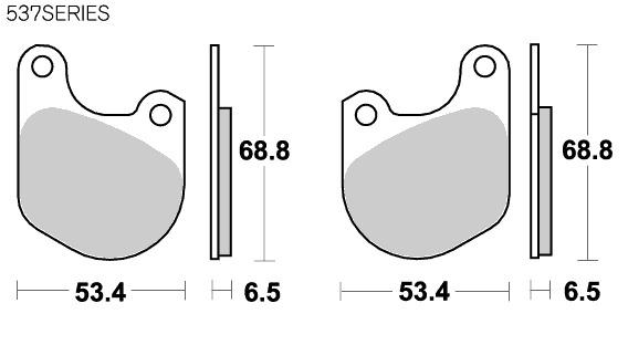 【SBS】 537HF 道路版 陶瓷煞車來令片 - 「Webike-摩托百貨」