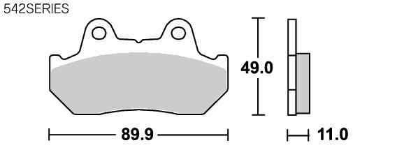 【SBS】Street Ceramic 542HF 煞車來令片 - 「Webike-摩托百貨」