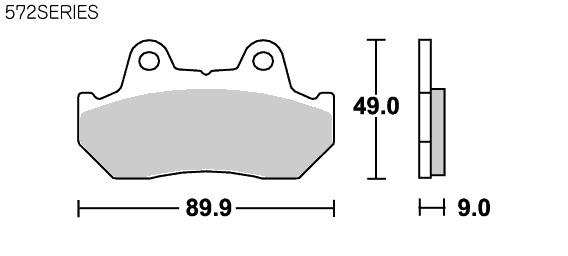 【SBS】Street ceramic 572HF 煞車來令片 - 「Webike-摩托百貨」