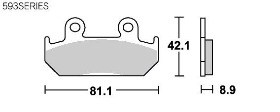 【SBS】道路版 陶瓷煞車來令片 593HF - 「Webike-摩托百貨」