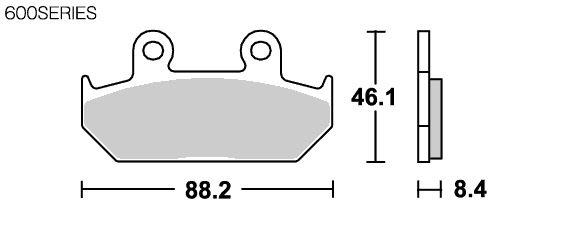 【SBS】Street Ceramic 600HF 煞車來令片 - 「Webike-摩托百貨」