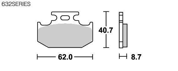 【SBS】Racing Carbon 632RQ 煞車來令片 - 「Webike-摩托百貨」