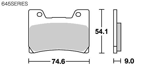 【SBS】Street Ceramic 645HF 煞車來令片 - 「Webike-摩托百貨」