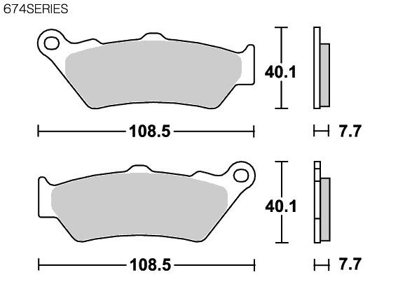 【SBS】道路版 陶瓷煞車來令片 674HF - 「Webike-摩托百貨」