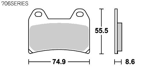 【SBS】Street Ceramic 706HF 煞車來令片 - 「Webike-摩托百貨」