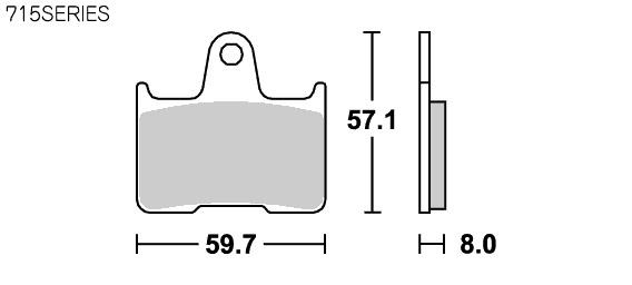【SBS】Street Excel Sinter 715LS 煞車來令片 - 「Webike-摩托百貨」