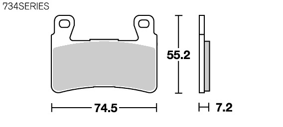 【SBS】Racing Dual Carbon 734DC 煞車來令片 - 「Webike-摩托百貨」