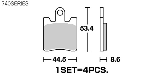 【SBS】Street Excel Sinter 740HS 煞車來令片 - 「Webike-摩托百貨」