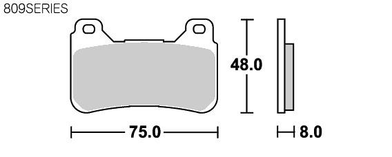 【SBS】 809DC Racing 雙碳纖維 煞車來令片 - 「Webike-摩托百貨」